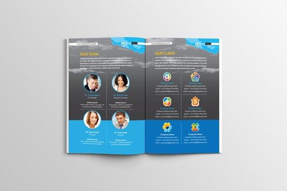 Brochure For Social Media Business Brochure Templates Creative