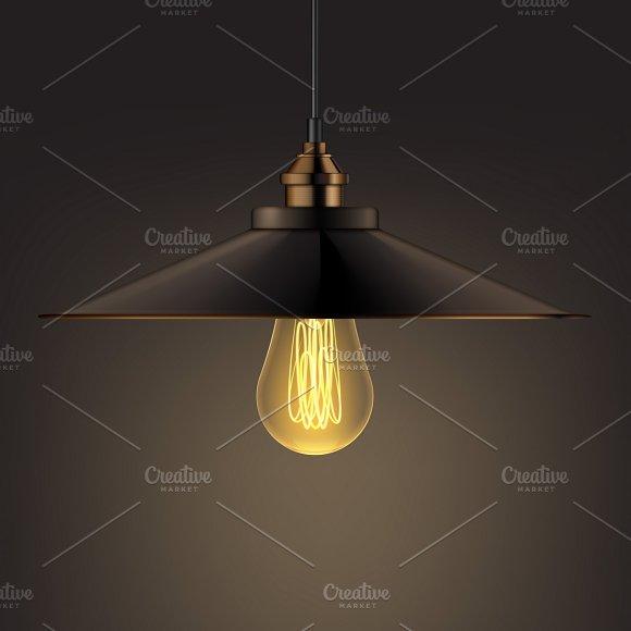 Shining chandelier lamp in Illustrations