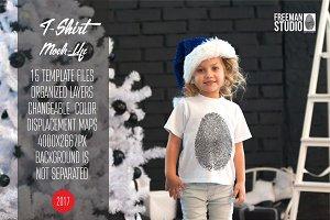 Christmas T-Shirt Mock-Up 2017