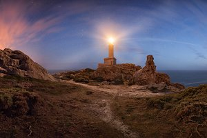 Lighthouse night panorama