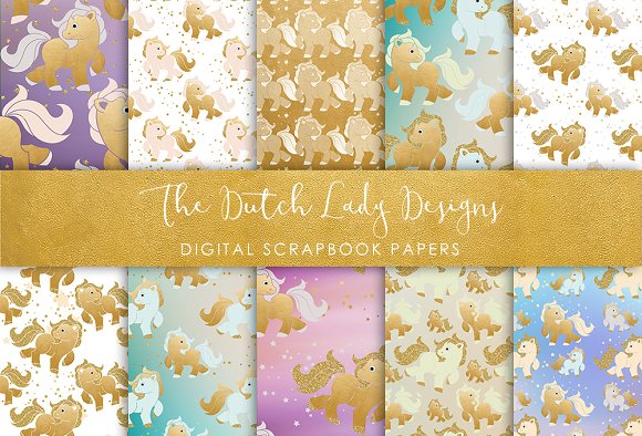 Pony Pattern - Scrapbook Papers