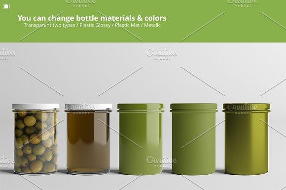 Oil / Jam / Honey Jar Mock-up Set.2 in Product Mockups - product preview 1