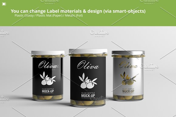 Oil / Jam / Honey Jar Mock-up Set.2 in Product Mockups - product preview 2