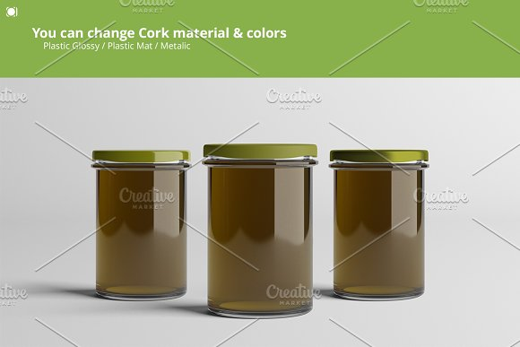 Oil / Jam / Honey Jar Mock-up Set.2 in Product Mockups - product preview 3