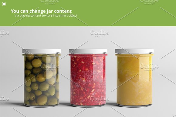 Oil / Jam / Honey Jar Mock-up Set.2 in Product Mockups - product preview 5