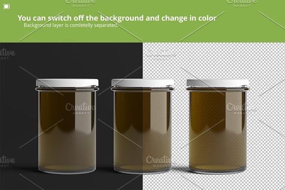 Oil / Jam / Honey Jar Mock-up Set.2 in Product Mockups - product preview 7