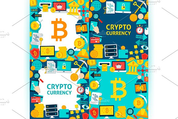 Bitcoin Cryptocurrency Concepts in Illustrations - product preview 1