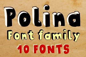 Polina family - 10 fonts - PROMO 50%
