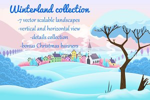 Vector winterland collection