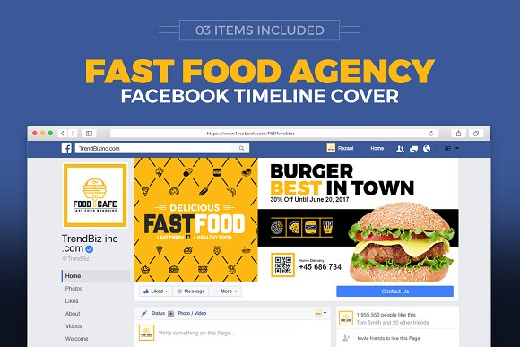 Food Company Social Media Cover