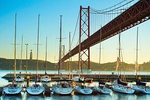 Yacht marina in Lisbon