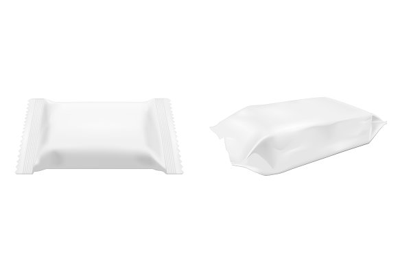 Wet wipes packaging. in Product Mockups