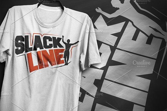Slackline - T-Shirt Design