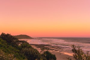 The sunset on the beach, Australia