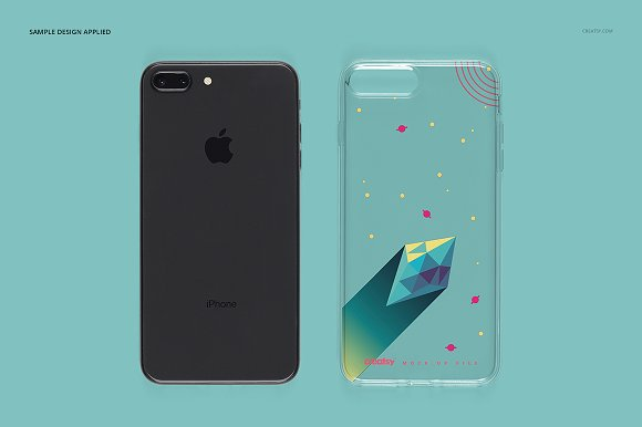 iPhone 8+ Clear Case Mockup Set in Product Mockups - product preview 4