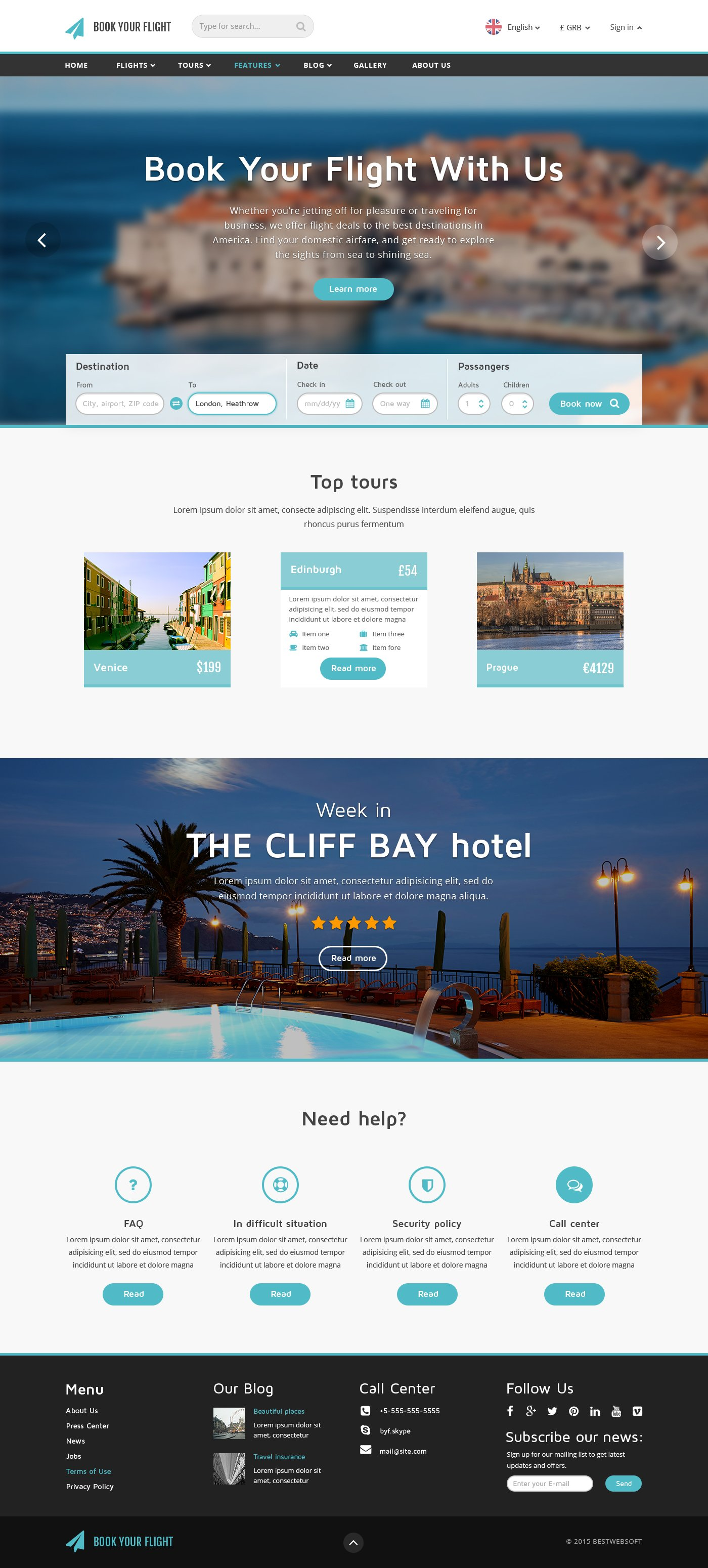 Book Your Flight Booking Template Website Templates