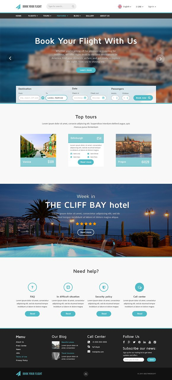 Book Your Flight Booking Template Website Templates Creative - Booking website template