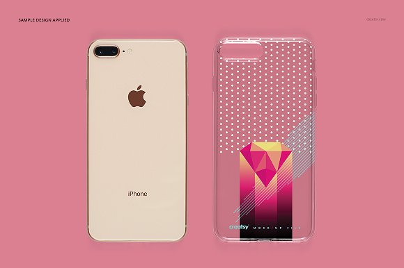 iPhone 8+ Clear Case Mockup Set in Product Mockups - product preview 8
