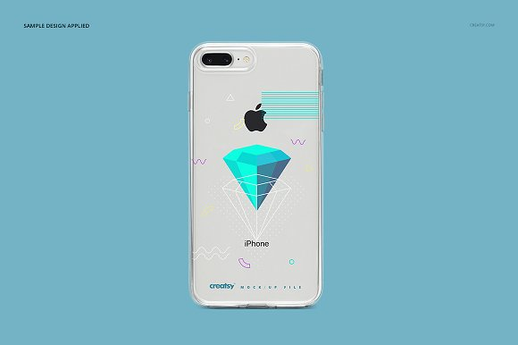 iPhone 8+ Clear Case Mockup Set in Product Mockups - product preview 11