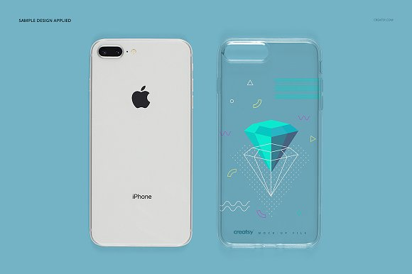iPhone 8+ Clear Case Mockup Set in Product Mockups - product preview 12