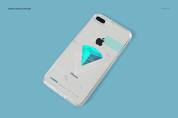 iPhone 8+ Clear Case Mockup Set in Product Mockups - product preview 13