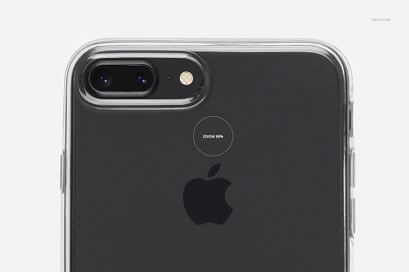iPhone 8+ Clear Case Mockup Set in Product Mockups - product preview 17