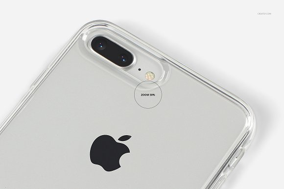 iPhone 8+ Clear Case Mockup Set in Product Mockups - product preview 18