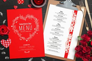 Valentines Menu Template Vol.2