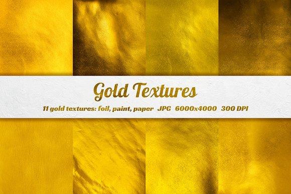 11 Gold foil, paper, paint textures in Textures
