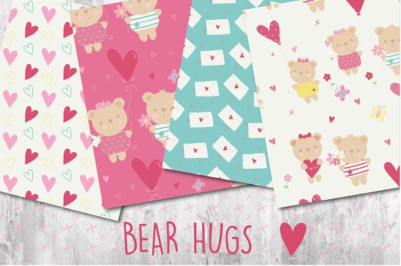 Bear Hugs paper in Patterns - product preview 1