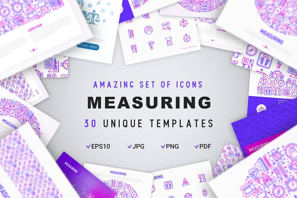 Measuring Icons Set | Concept in Graphics - product preview 1