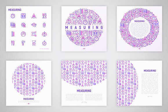 Measuring Icons Set | Concept in Graphics - product preview 4