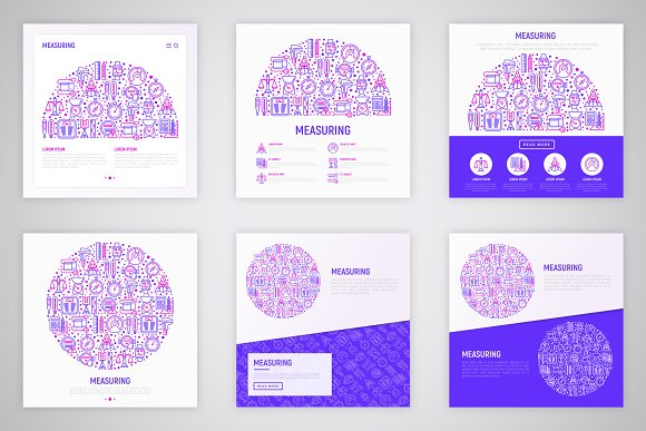 Measuring Icons Set | Concept in Graphics - product preview 5
