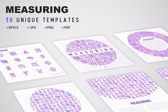 Measuring Icons Set | Concept in Graphics - product preview 7
