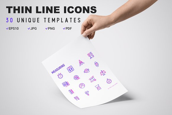 Measuring Icons Set | Concept in Graphics - product preview 8