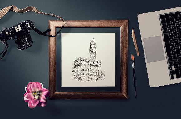 Set of Florence sketches in Illustrations - product preview 1