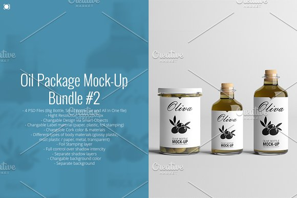 [-33%] Oil Package Mock-Up Bundle #2