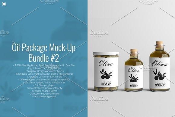 [-33%] Oil Package Mock-Up Bundle #2 in Product Mockups