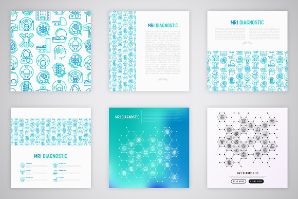 MRI Diagnostic Icons Set | Concept in Graphics - product preview 3