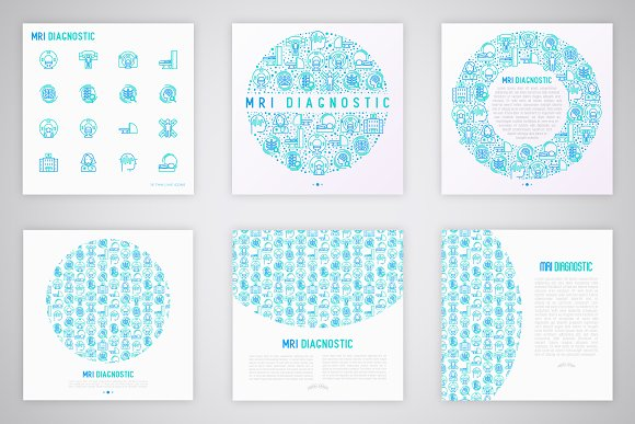 MRI Diagnostic Icons Set | Concept in Graphics - product preview 4