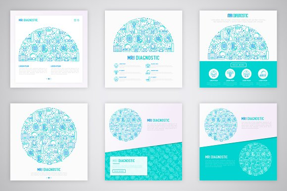 MRI Diagnostic Icons Set | Concept in Graphics - product preview 5
