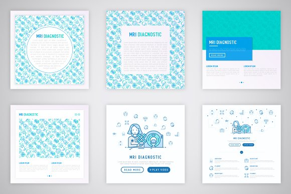 MRI Diagnostic Icons Set | Concept in Graphics - product preview 6