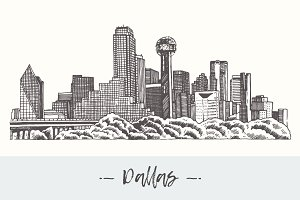 Dallas skyline, USA