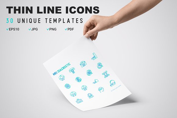 MRI Diagnostic Icons Set | Concept in Graphics - product preview 8