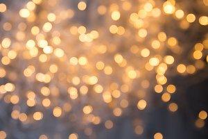 Golden lights of a garland