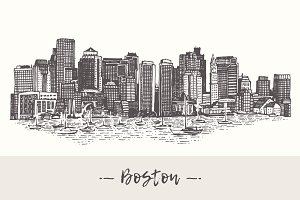 Boston skyline, USA