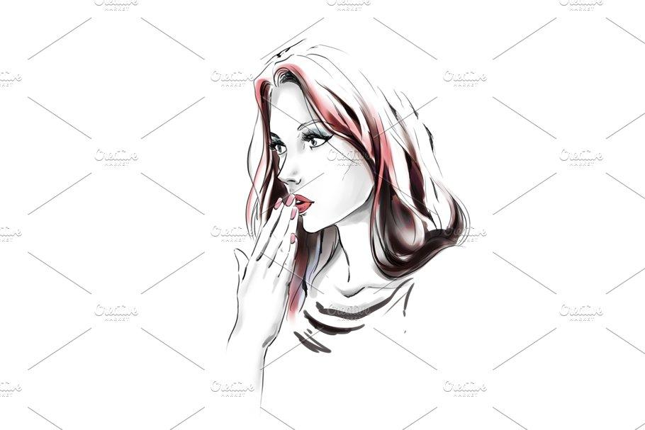 Fashion illustration in Illustrations