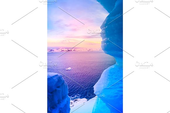 blue ice cave  in Graphics