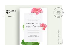 Wedding editable PDF template by  in Stationery