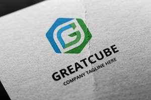 Great Cube -Letter G Logo